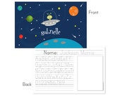 Space personalized placemat