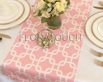 Light pink Gotcha Table Runner Wedding Table Runner
