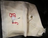 Embroidered Personalized Golfers Towel with Grommet and Hook -GOLF