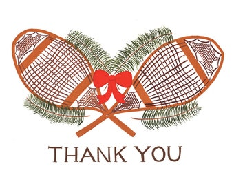 Snowshoes Thank You Card