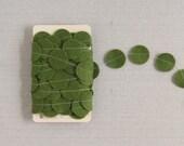 Moss Green Garland // Wool Felt // 4 yards