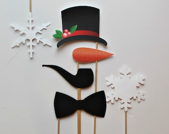Holiday Photo Booth Props. Frosty the Snowman Photo Prop. Photobooth Prop. Winter Photo. Christmas Photos