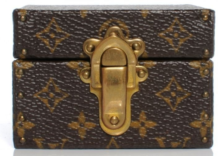 100 Authentic Mini Louis Vuitton Made In France Has No Date >> RARE Louis Vuitton Monogram Mini Travel Coffet Coffer Trunk