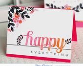 Handmade Happy Everything Card
