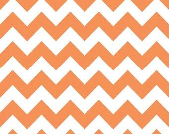 Chevron Orange Fabric Riley Blake 1 yard Medium Pumpkin