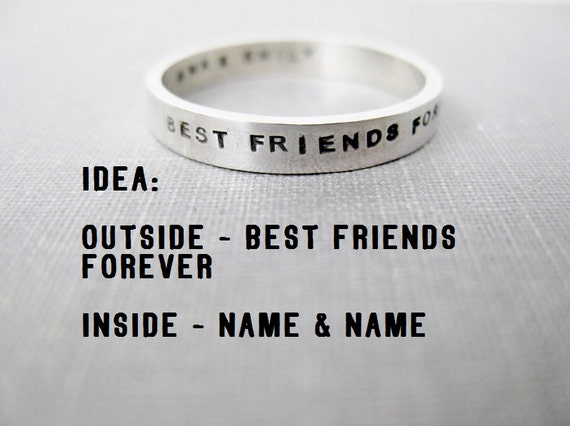 Wedding Gift Ideas For Close Friends: Quote Idea Personalized Ring Best Friends By