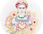 Las Flores de Frida - Frida's Flowers Embroidery Pattern - PDF