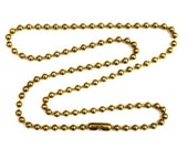 24 inch Brass Plated Stainless Steel Ball Chain