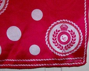 Red and White Polka Dot Long Scarf By Liz Claiborne (Code v)
