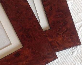 5x7 inch Burr Walnut Veneer Deluxe Photo Frame/Mens Gift/Office Desktop/Standard Size Photo Frame 5x7 inches