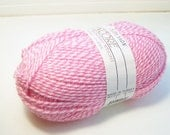 Encore Plymouth Yarn, SALE Washable Wool Yarn, Pink Peppermint Stick Wool and Acrylic, 1 Skein Destash Supplies