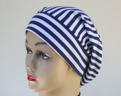 Nautical Stripe Classic Snood, Cotton with Lycra, on-Trend size Medium / one size