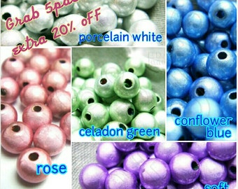 bulk -20% / MIRCD6 / 100Pc x 5 / Diameter 6mm - Miracle Beads ( Colored Glass Coated  Acrylic Beads )