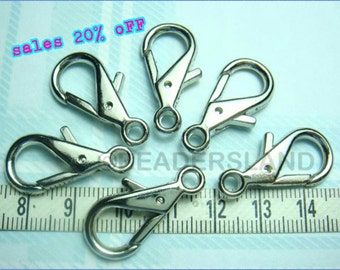 sales -30% / Y131RH / 12Pc / 28x13mm - Rhodium Plated Triangle Shape Triggered Key Hooks Findings