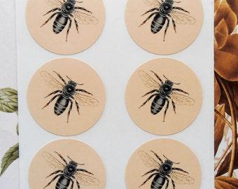 Sticker Bee Vintage Style Envelope Seals Treat Bag Party Favor Sticker SP043