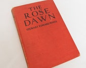 1920 Cowboy Western Vintage Red Book Rose Dawn Stewart Edward White Novel Fiction Old WestHistory Land Boom Setting Book Decor by Color