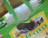 Upcycled market bag for turkey fans
