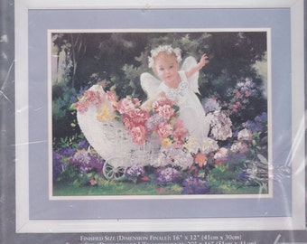 Needle Treasures Baby Angel  ColorArt Counted Cross Stitich Kit Rare and OOP