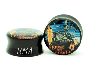 0g Vintage House on Haunted Hill Movie Poster Plugs (8mm)