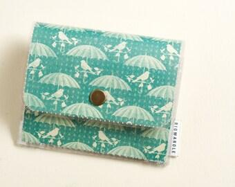 Birds and Umbrellas - Accordion Wallet