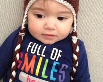 Football beanie  Infant/ Newborn Beanie Baby Beanie Infant headband Infant hat beanie Photo Shoot