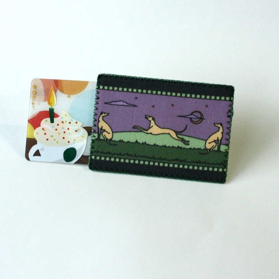 greyhound gift card items similar to greyhound whippet gift card holder aceo 1777