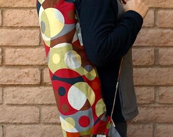 ORBS Yoga Mat Bag Yoga Mat Tote Yoga Bag Yoga Tote Yoga Sling Yoga Sac Yoga Sack, handmade, red and navy
