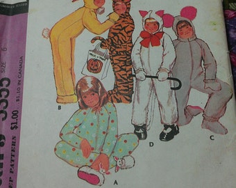 Easy Child Costume or Long Sleep Style Pajama 6 MCalls 3355