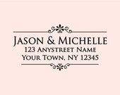 Self inking custom Personalized Return address Name rubber stamp R189
