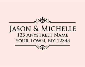 Personalized Self Inking Address Stamp - Return address stamp R189