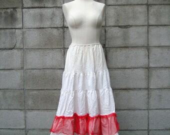 Red Crinoline Vintage Petticoat Women's size L Suza of California
