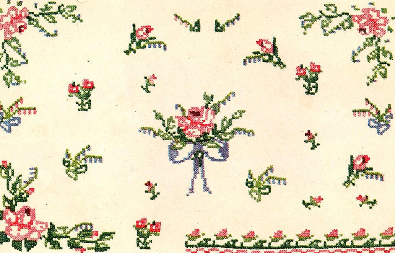 Vintage hand embroidery transfers repo iron on dainty