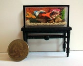 Fish Tank with Stand (half inch scale dollhouse)