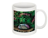 Pink Bleeding Hearts Coffee Mug With The Flower Image On Both Sides Home Trends Gift for Her or Him for the Home or Office