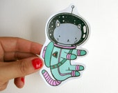 Space Cat - Hand cut awesome drawing