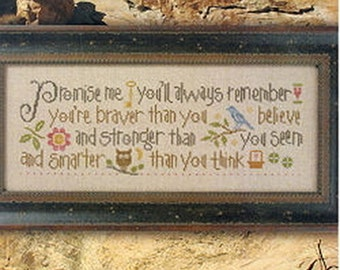 Lizzie Kate - Promise Me - Counted Cross Stitch Pattern Chart