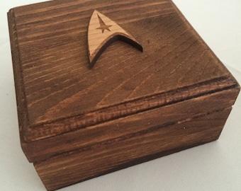 Star Trek Wedding Engagement Ring Box Geek Nerd
