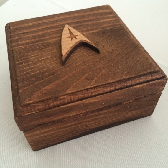 star trek wedding engagement ring box geek nerd - Star Trek Wedding Ring