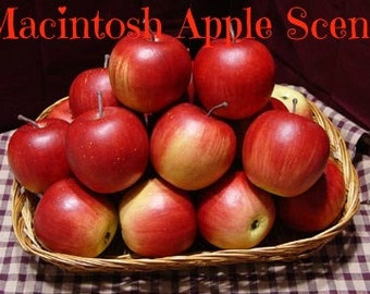 MACINTOSH APPLE Scented Soy Wax Melts - Wickless Candle Soy Tarts - Highly Scented - Hand Made & Poured In USA