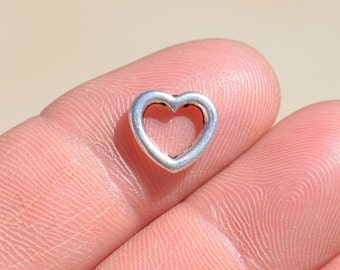 1  Silver Heart Charms SC2060