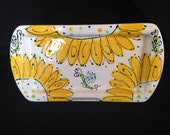 Small Sunflower Rectangle platter