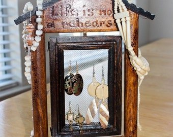 Life is Not a Rehearsal Swivel Jewelry Holder Frame