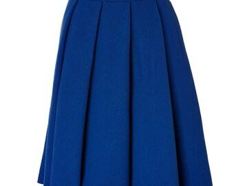 Box pleated skirt, Custom Fit, Handmade, Fully Lined