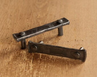 "3"" Lithops Tenon Pull - Wrought Iron Drawer Handle"