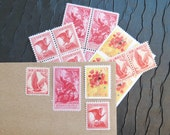 Classic LOVE .. Vintage UNused Postage Stamps .. to post 5 letters