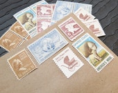 Baby Wool .. UNused Vintage Postage Stamps  .. post 5 letters