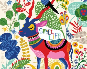 Sweet Life... - limited edition giclee print of an original illustration (8 x 10 in)