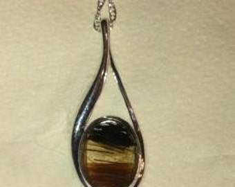 Horse Hair Jewelry Sterling Silver Teardrop Pet Pendant Horsehair Jewelry