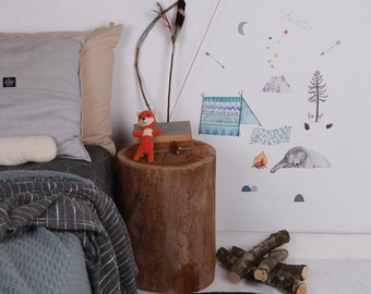 Fabric Wall Decal - In to the Woods (reusable) NO PVC