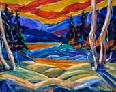 Geo Landscape II Original Painting by  Prankearts